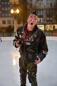 Zombie on a skating rink